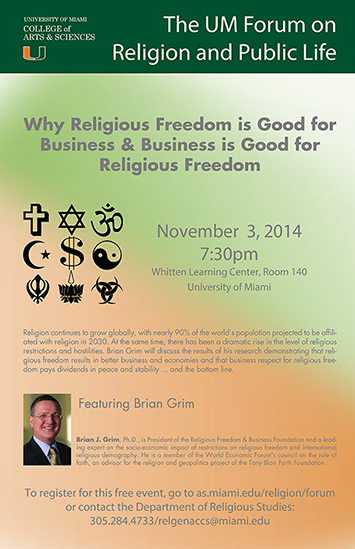 Why Religious Freedom is Good for Business Business is Good for Religious Freedom