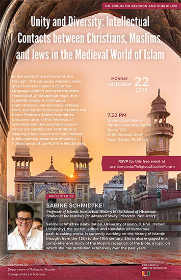 Unity and Diversity:  Intellectual Contacts between Christians, Muslims, and Jews in the Medieval World of Islam